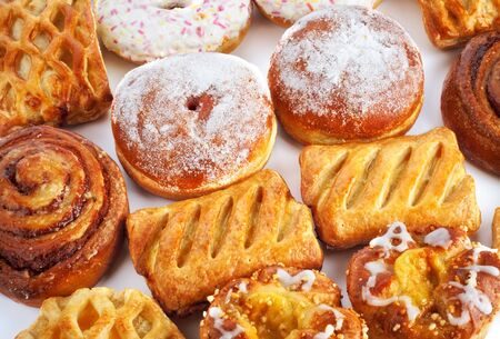 bap: different sweet baking on a table