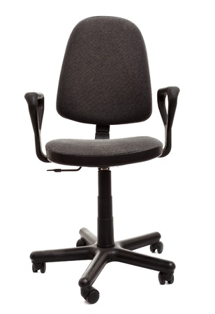 black office chair isolated on white background photo