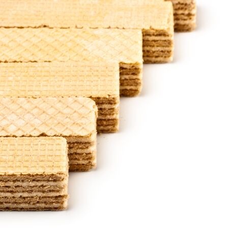 crisp waffles line isolated on white background Stock Photo - 8630765