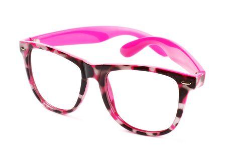 funny pink eyeglasses isolated on white background Stock Photo - 8630803