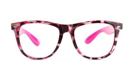 funny pink eyeglasses isolated on white background Stock Photo - 8698515