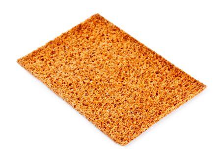 rye crisp cracker isolated on white background photo
