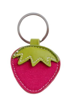 keychain: childish strawberry keychain isolated on white background