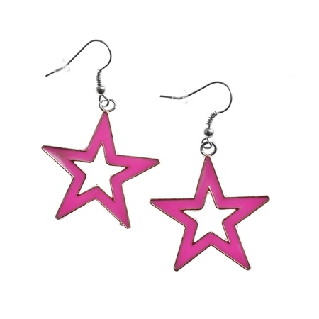forme: star shape earrings isolated on white background