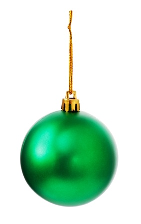 green christmas ball isolated on white background Stock Photo