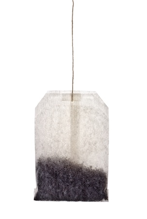 single tea bag isolated in white background Stock Photo