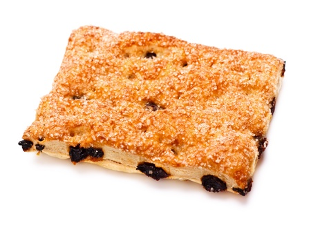 pone pie with raisins isolated on white background Stock Photo - 9183738