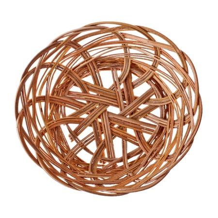 empty wicker basket isolated on white background Stock Photo - 9246179