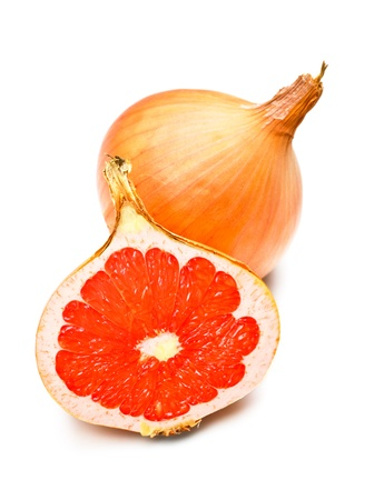 yellow onion with grapefruit fillings, genetically modified organism
