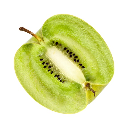 apple with kiwi fillings, genetically modified organism Stock Photo