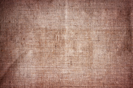 old brown canvas grunge texture as background