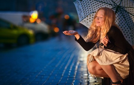 car lights: Under the Rain