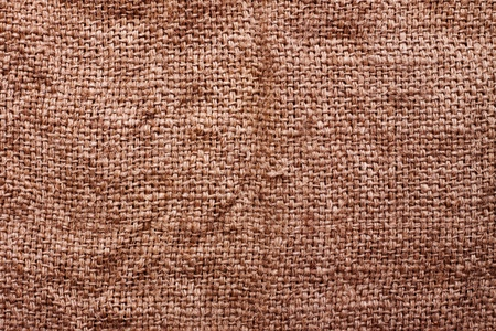 old brown sacking grunge texture as background photo