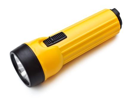 Elektrische Taschenlampe isoliert auf weißem Hintergrund Standard-Bild - 10293017