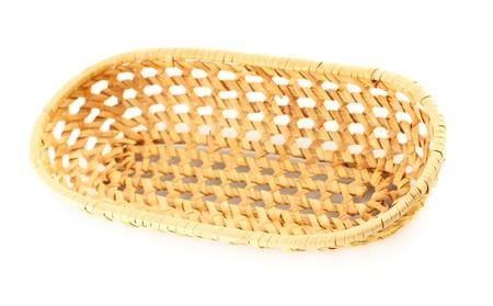 little elm basket isolated on white background Stock Photo - 10299679