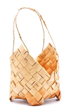 little elm basket isolated on white background Stock Photo - 11158013