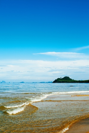 tropical beach, Koh Libong, Andaman Sea, Thailand photo