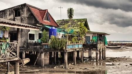 andaman: fishing village, Andaman Sea Shore in Thailand Stock Photo