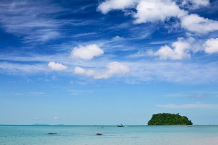 small jungle island in Andaman Sea, Thailand photo