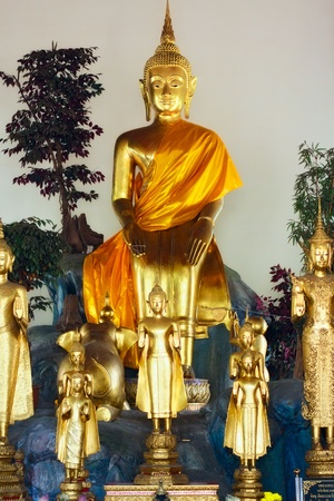 group of buddhas, Wat Po, Bangkok, Thailand photo