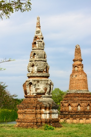 ruins in Mueang Boran, aka Ancient Siam, Bangkok, Thailand Stock Photo - 12600470