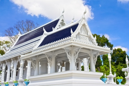Kaew Grovaram Temple in Krabi town, Thailand photo