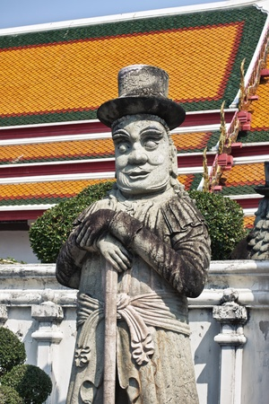 stone Statue in Wat Pho, Bangkok, Thailand photo