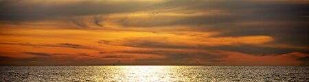 beautiful sunset over Andaman Sea, in Thailand Stock Photo