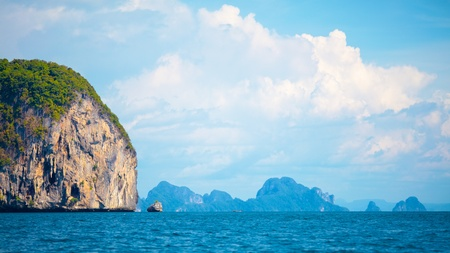 tall cliff with trees at Andaman Sea, Thailand Stock Photo - 12959524