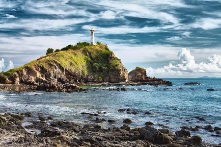 lighthouse on a cliff, Koh Lanta, Krabi, Thailand photo