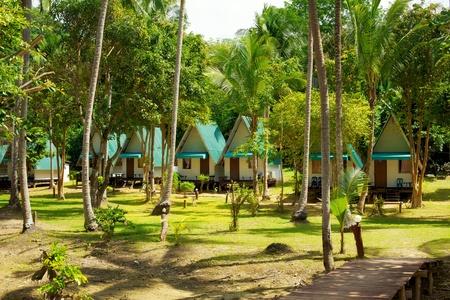 bungalow resort in jungle, Koh Lanta, Thailand photo