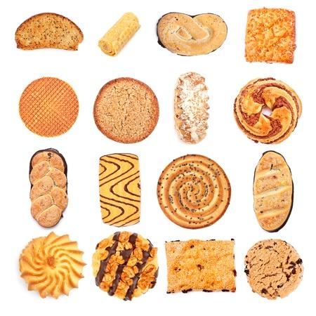 different sweet bakery set isolated on white background Stock Photo - 13102864
