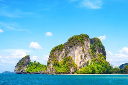 tall cliff with trees at Andaman Sea, Thailand Stock Photo - 13194688