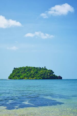 small island in a sea, Koh Libong, Andaman Sea, Thailand photo