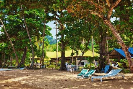 beautiful bungalow resort in jungle, Krabi, Thailand
