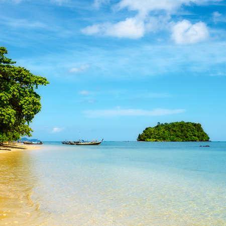 tropical sand beach in Andaman Sea, Thailand