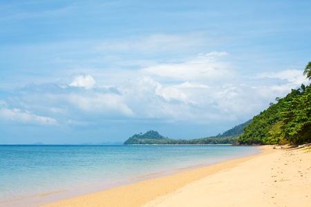 tropical beach with yellow sand, Andaman Sea, Thailand