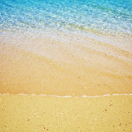 beach and tropical sea at sunny day Stock Photo