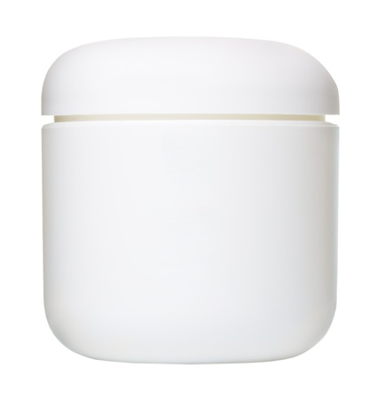 jar: jar for cosmetic cream, gel or powder, isolated on white