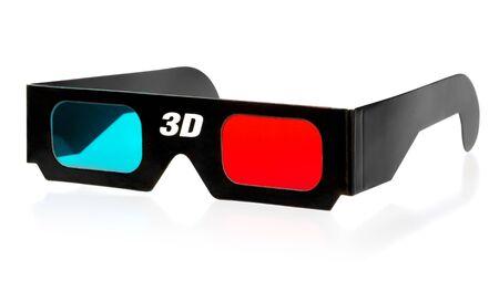 black 3d eyeglasses isolated on white background Stock Photo - 14768529