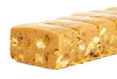 sorbet: wschód słodycze, sorbet z orzechów, odizolowane na białym