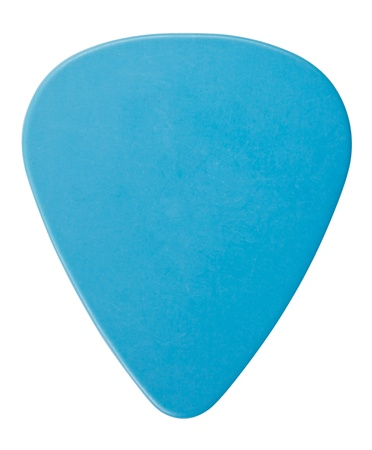 guitar pick: blue plastic guitar plectrum, isolated on white Stock Photo