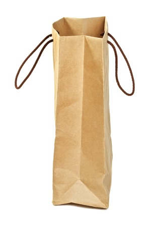 brown paper bags isolated on white background Stock Photo - 17599079