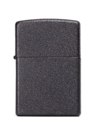 black metal gasoline lighter, isolated on white Stock Photo - 19516267