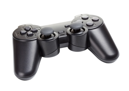 game controller isolated on a white background photo