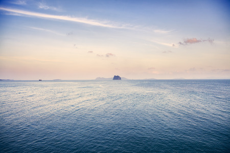 sea landscape with rock island, Gulf of Thailand at morning Reklamní fotografie