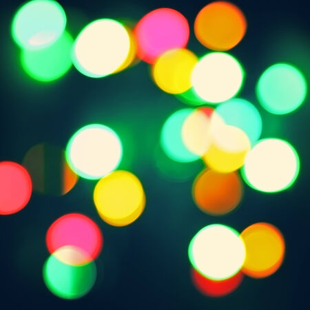 beautiful abstract bokeh background, with defocused lights photo