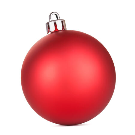 red christmas ball, isolated on white background Standard-Bild
