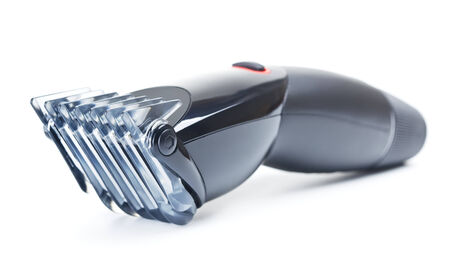 hairclipper: new black hairclipper, isolated on white background