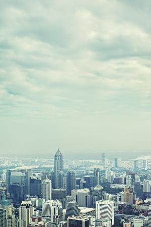 Bangkok aerial city view at day, Thailand photo